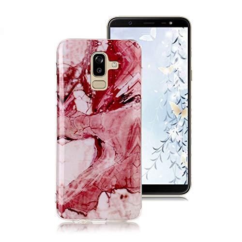 Hülle für Samsung Galaxy J8 2018, Marmor Muster Serie Flexible Weich Silikon TPU Case Ultra Dünn...