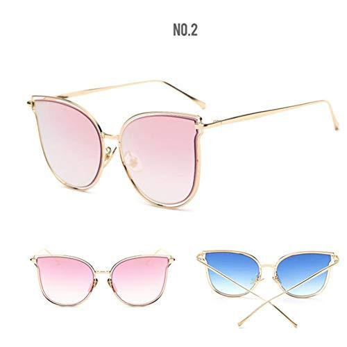 SKCLBOOS Sonnenbrillen Vintage klar cat Eye Sonnenbrille rosa Gold Silber Spiegel Frauen Sonnenbrille Lunette de Soleil Femme 2017 einzigartiges Glas