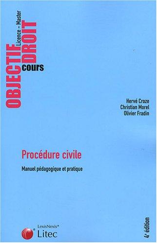 Procédure civile : Manuel pédagogique et pratique
