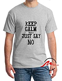 456d9a077a080 ZMvise Keep Calm and Just Say No Fashion Cotton Tee Unisex Adult Youth  Tshirt