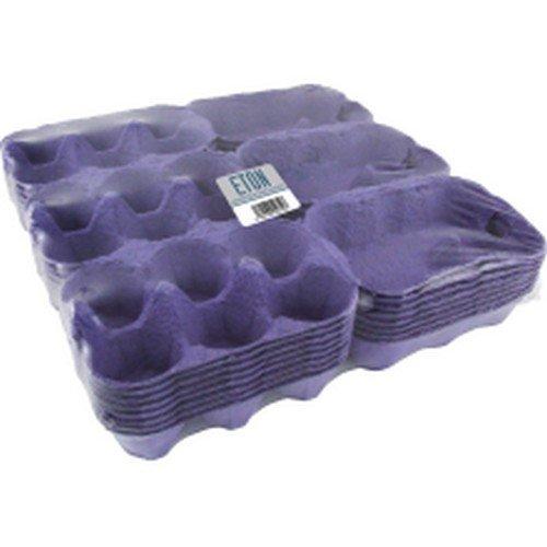 Tusk Blue Eierkartons für 6 Eier, 24er-Pack (24 Stück) (Kann variieren)