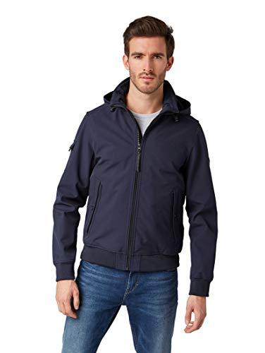 TOM TAILOR für Männer Jacken & Jackets Softshelljacke Knitted Navy, XXL