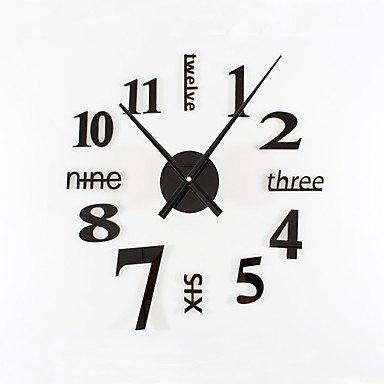 zhENfu Bricolaje Ultra Gran Silencio moderno sencillo reloj de pared