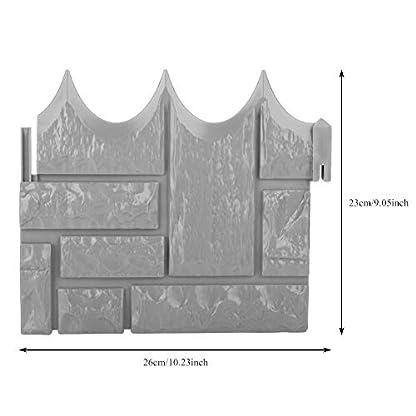 6 Unids Jardín Simulado Ladrillo Cemento Cerca Piedra Molde Flor de hormigón Patio Césped Mold Maker para Decoración
