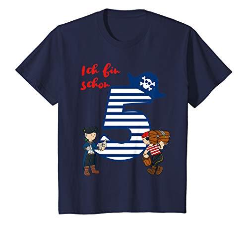 Kinder T-Shirt Geburtstag 5 Jahre Junge Pirat Ich bin schon 5