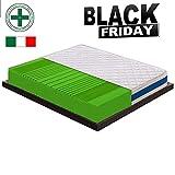 Black Friday - Materasso Singolo Ortopedico a 7 Zone differenziate con Varie densità H1 H2 H3 H4 - Certificato Presidio Medico con DETRAZIONE FISCALE (90x200, H3 Rigido (Peso Max 110kg))