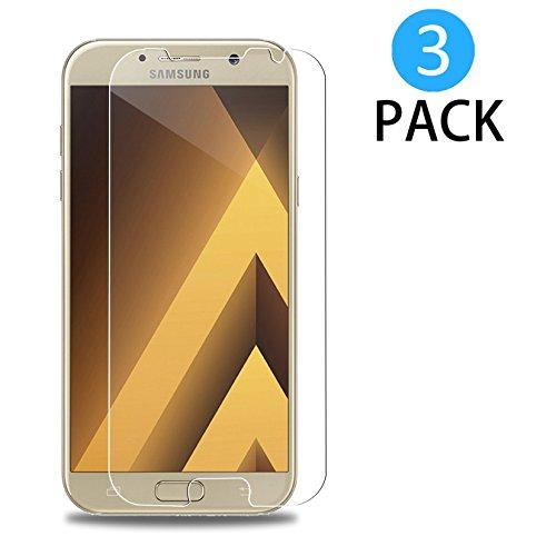 Samsung Galaxy A3 2017 Schutzfolie, [3 Stück] WEOFUN Ultra-klar Panzerglas für Samsung galaxy A3 (2017) [0.33mm, 9H, - Wwf-test