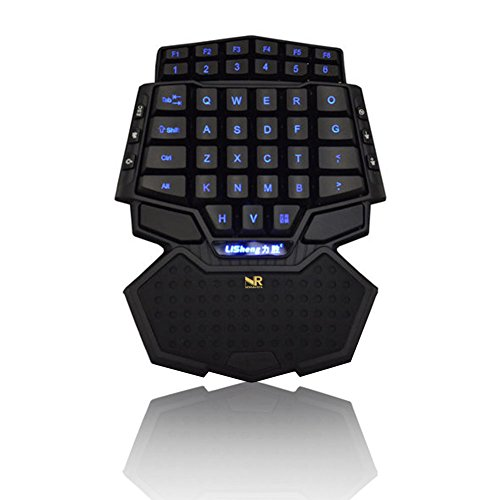 Normia Rita Professional 47 Tasten Mini Single Hand Gaming Keyboard Bunte Led Rücklicht Tastatur Mit Handgelenk Rest