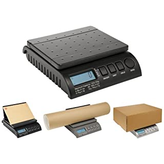 ABCON POSTSHIP Digital 20kg 44lb - from 1g Increments - Black Letter Postal/Postage/Parcel/Shipping/Weighing/Packet Scales Scale - 0-1kg/1g 1-5kg/2g 5-20kg/5g