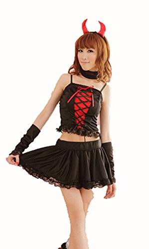 GBT Sexy Halloween-Hexe In Der Schwarzen Kleidung Kleidung Spieluniformen Sexy Unterwäsche (Hexen In Der Halloween)