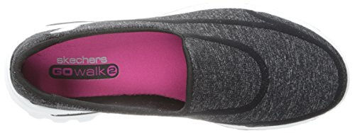 Skechers GO Walk 2 Super Sock Damen Walkingschuhe Schwarz / Weiß
