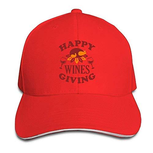 Happy Wines Donnant Casquette Unisexe Bas Profile Chapeau Coton Casquettes De Baseball Blanc 01Y69