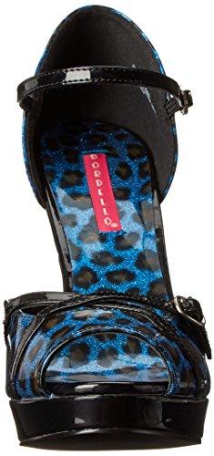 Bordello CHEETAH-06G CHE06G/BLU Blue Pearlized Cheetah Pat