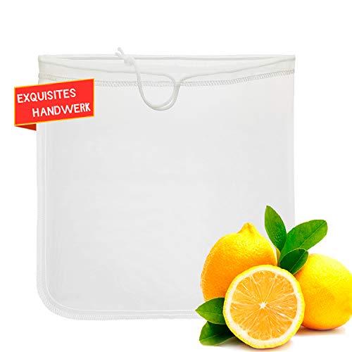 Arkham Nussmilchbeutel für Nussmilch Mandelmilch - Feinmaschiges Filtertuch Passiertuch Cheesecloth Seihtuch Safttücher Presstuch Obstpresse 30X30CM