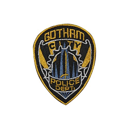 REAL EMPIRE Aufnäher mit Batman-Logo, Gotham, Bestickt, zum Aufnähen, Kostüm, T-Shirt, Tasche, Jacke, Badge