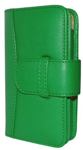 Piel Frama 600GREEN Wallet Ledertasche für Apple iPhone 5/5S grün (Green Apple Piel)