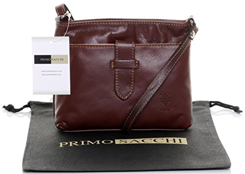 98a5d0d6d369 Italian Soft Leather Hand Made Ladies Small Mid Brown Cross Body or Shoulder  Bag Handbag. Includes Branded Protective Dust Bag. - Buy Online in Oman.