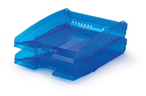 DURABLE - Vaschetta portacorrispondenza Trend, impilabile, per documenti f.to A4 e C4, 250x70x337 mm, blu traslucido (cod. #1701626540)