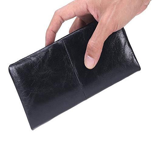 Bolsillos sueltos MDHYY Nuevo Monedero de Negocios Monedero Monedero Cartera de Cuero Largo Carteras de Moda de Gran Capacidad Portatarjetas Embrague Bolso pasaportes