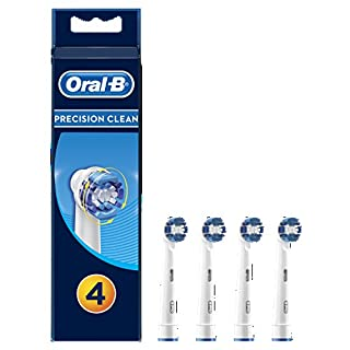 Oral-B Precision Clean Aufsteckbürsten, Umschließt jeden Zahn einzeln für eine optimale Reinigung, 4 Stück