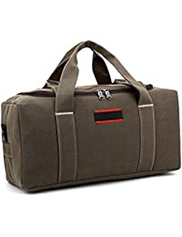 WOMJIA Double toile épaississement bagages Sporty Gear Bag weekender Grand Vert