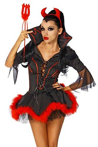 lloween Kostüm `Teufelchen` A11039, Größe:38/40;Farbe:schwarz (Teufel Halloween Kostüme Für Frauen)