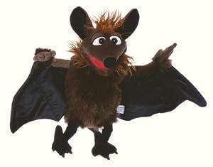Living Puppets Marioneta de Mano de Peluche Gaston el Murciélago marrón de Negro, Wingspan 60cm
