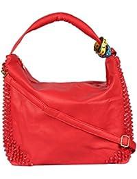 Kion Style Colour Band Women's Red Handbag