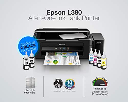 Epson L380 Multi-Function InkTank Colour Printer (Black) 2