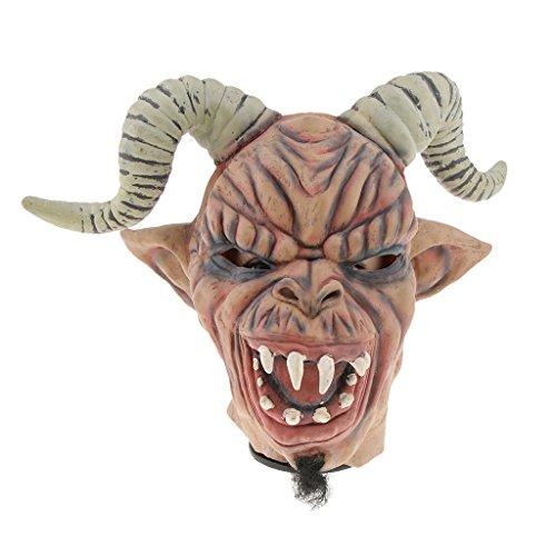 non-brand MagiDeal Halloween Horror Latexmaske Gesichtsmaske Clown Maske Zombiemaske Kostüm Accessoires Auch für Cosplay Karneval und Themenparty - Schaf Corner Warcraft