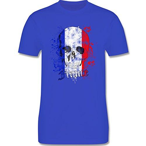 EM 2016 - Frankreich - France Schädel Vintage - Herren Premium T-Shirt Royalblau