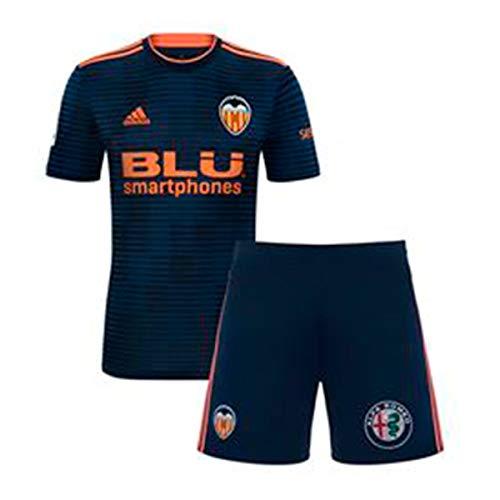 adidas Valencia CF Segunda Equipación Niño 2018-2019, Conjunto, Collegiate Navy-Semi Solar Orange, Talla 98