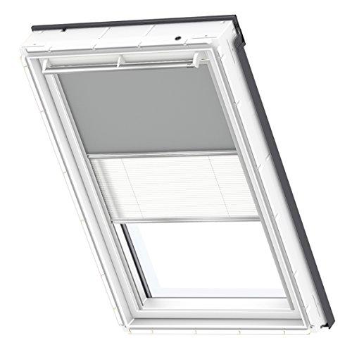 VELUX Original Verdunkelung Plus für Dachfenster, M08, 308, 2, Uni Grau/Weiß