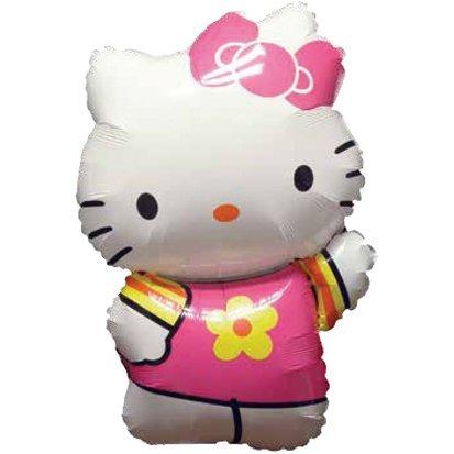 paduTec Ballon XXL Folienballon Luftballon - Hello Kitty - Geburtstag Kindergeburtstag Überraschung Deko - geeignet zur befüllung mit Luft oder Helium Gas