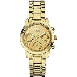 Guess Reloj analogico para Mujer de Cuarzo con Correa en Acero Inoxidable W0448L2