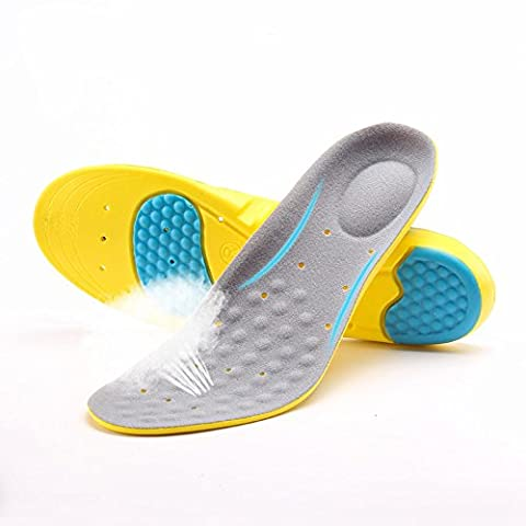 VEASTI Sport Shoe Insoles Inserts Comfort with Gel Heel Cup Arch SupportSemelles Sport - gris - gris,