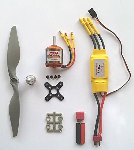 Safari Drives Moteur sans balaisESCKit D'alimentation d'hélice pour pour pour Un Model D'avion RC de 400-1200g - Configuration Tout Usage pour des Batteries LiPo 3S | Des Produits De Qualité,2019 New  9a9101