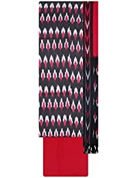 Bharathi ikat Fabs Handloom Pochampally Cotton Unstitched Dress Material For Women (Multi-Coloured)