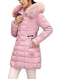 Theshy Damen Winterjacke Wintermantel Lange Daunenjacke Jacke Outwear  Frauen Winter Daunenmantel Arbeiten Sie Festen BeiläUfigen Dickeren 7e3f35d72e