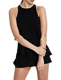 Jumpsuit da Donna Elegante- feiXIANG® Estate Donna Floreale Stampa  Pagliaccetto Senza Maniche Jumpsuit Spiaggia 2ec2cf4efaf