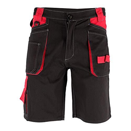 Krexus Pantaloncini da Lavoro Corti Uomo Nero/Rosso Taglia L