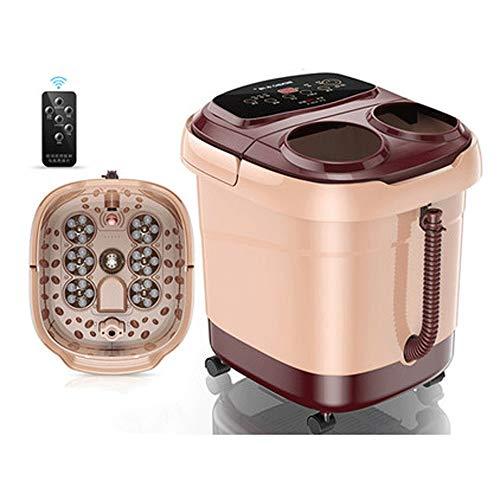 ZXCVB Masajeador de pies y bañera de hidromasaje, automático motorizado rodillo masajeador con calor...