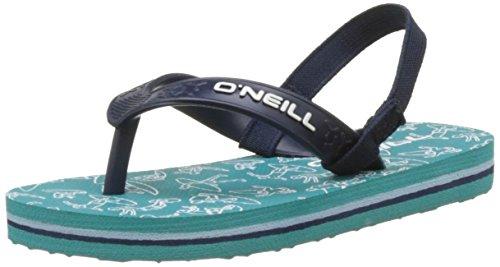 O'Neill Unisex-Kinder FY Team Lil Flip Flops Dusch-& Badeschuhe, Vert (Green Blue), 28 EU