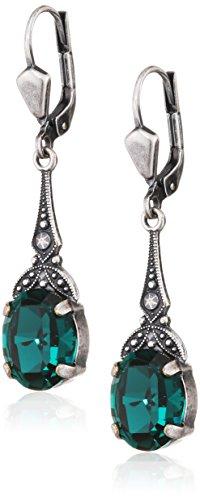 Jugendstil Ohrringe mit Kristallen von Swarovski Damen Silber Viele Farben NOBEL SCHMUCK