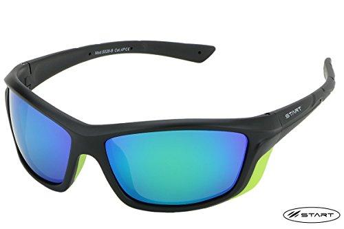 Brille Polarisiert S028-Klasse 4(schwarz/grün)