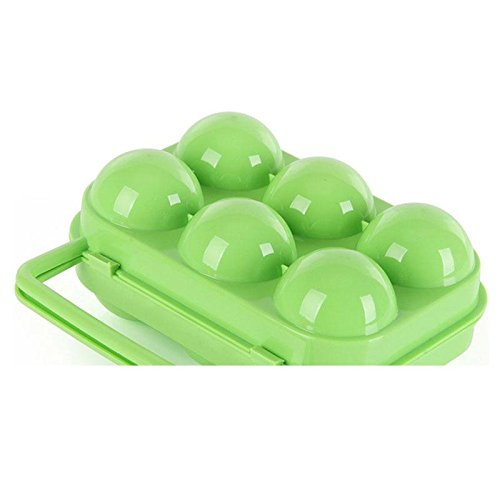 xinzhi Outdoor Portable 6 Grids Eggs Storage Tray Carrying Box Case Container Holder* De Li Container