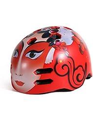 HYF-Aegis Monopatín adulto casco rojo de la mascarilla de la motocicleta locomotora límite del casco , M