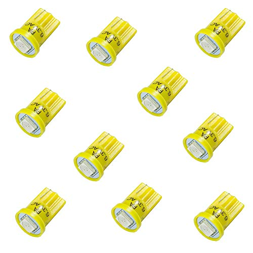 PA x10 # 555 T10 1SMD LED Keil Flipperautomaten Light Top View Leuchtmittel bis 6,3 Zoll V