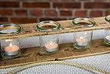 Zu Ostern, Hochzeit, Geburtstag Teelichthalter aus Altholz Holz von Obstkiste mit 4 Gläsern und Tau, Handgefertigt, Windlicht, Kerzenhalter, Laterne, Vintage, Upcycling - 5