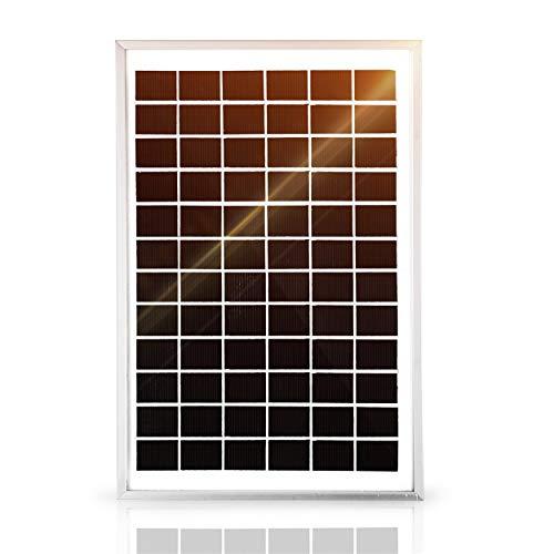 SARONIC 10W 12V Monokristallines Solarmodul für Caravan, Wohnmobile, Boote oder jedes 12V-System
